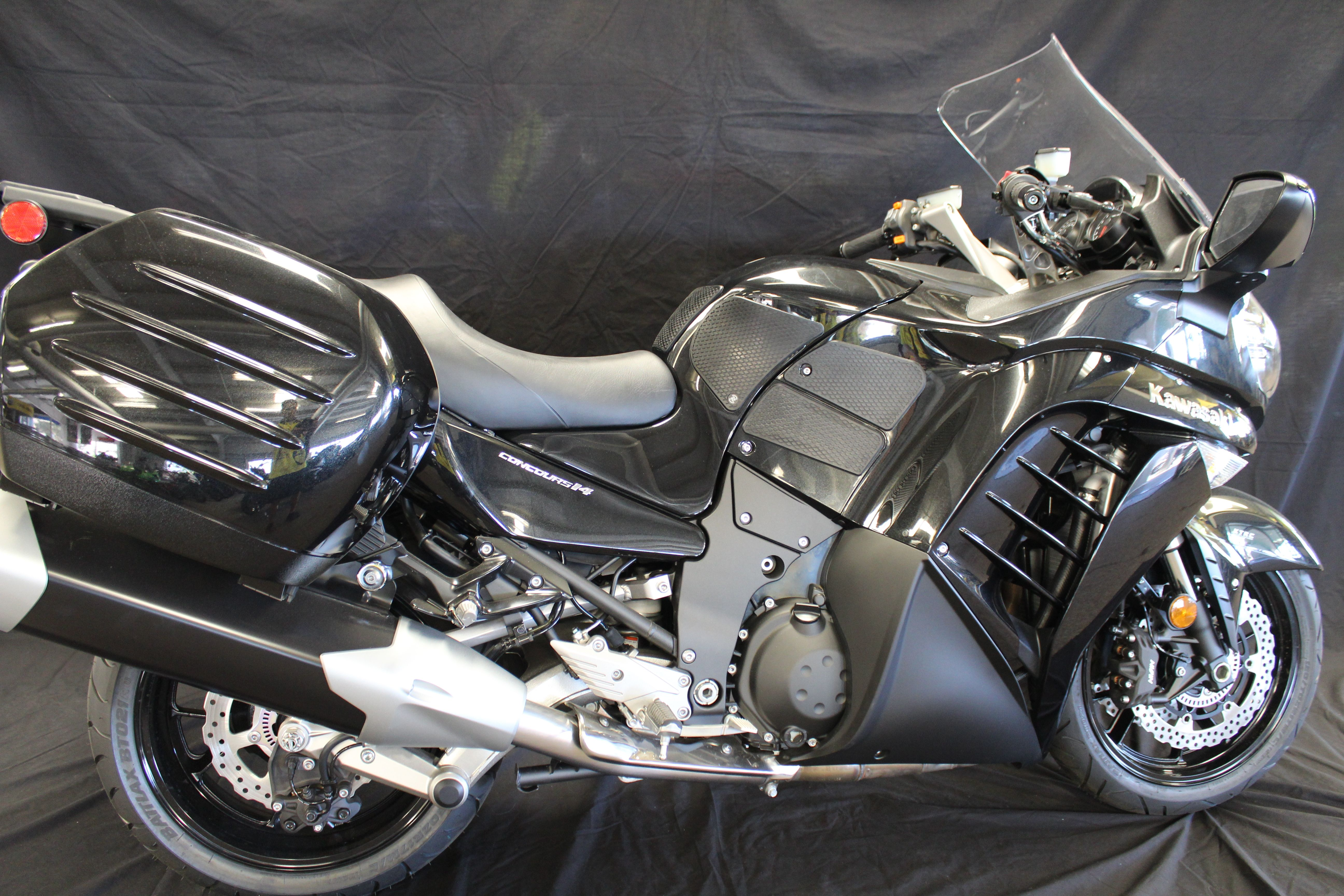 Check Out The Kawasaki Concours 14 With Gripstertankgrips Www Techspec Usa Com Touring Bike Kawasaki Motorcycle
