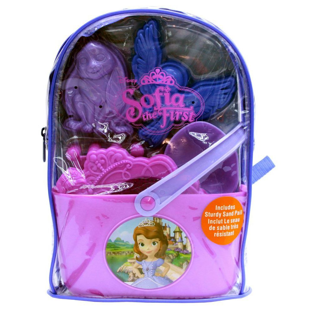 280060a83d0 What Kids Want Sofia The First Beach Toys Sand Pail Bucket Clear Backpack  Set