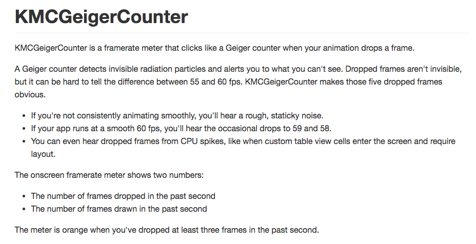 KMCGeigerCounter is a framerate meter that clicks like a Geiger ...
