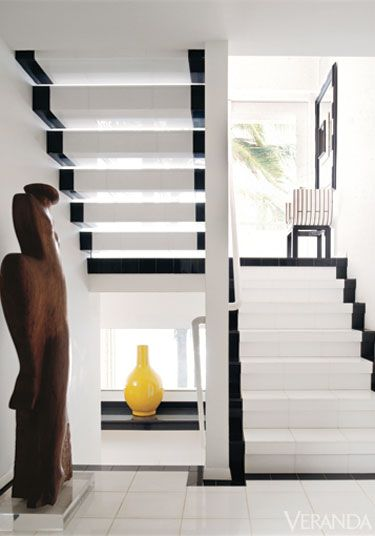 Late designer geoffrey beene puts graphic contrasts to smashing effect white decor home interior also veranda magazine verandamag on pinterest rh