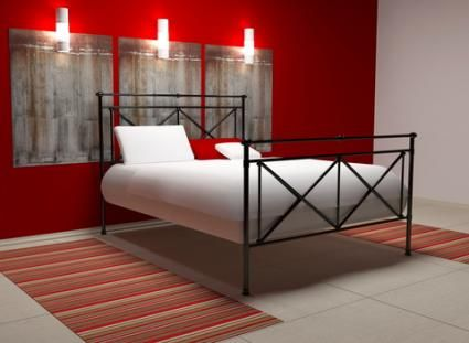 i am painting my bedroom with 3 white walls and a red accent wall trim - Bedroom Colors Red