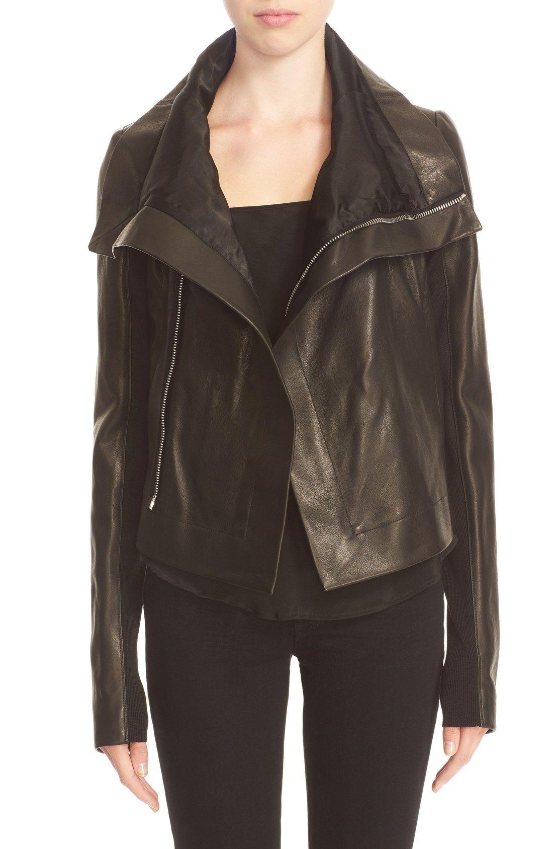 Rick Owens 'Clean' Leather Biker Jacket Reviews Leather