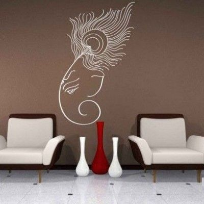 Decal Ganesha With Peacock Feather Pinterest