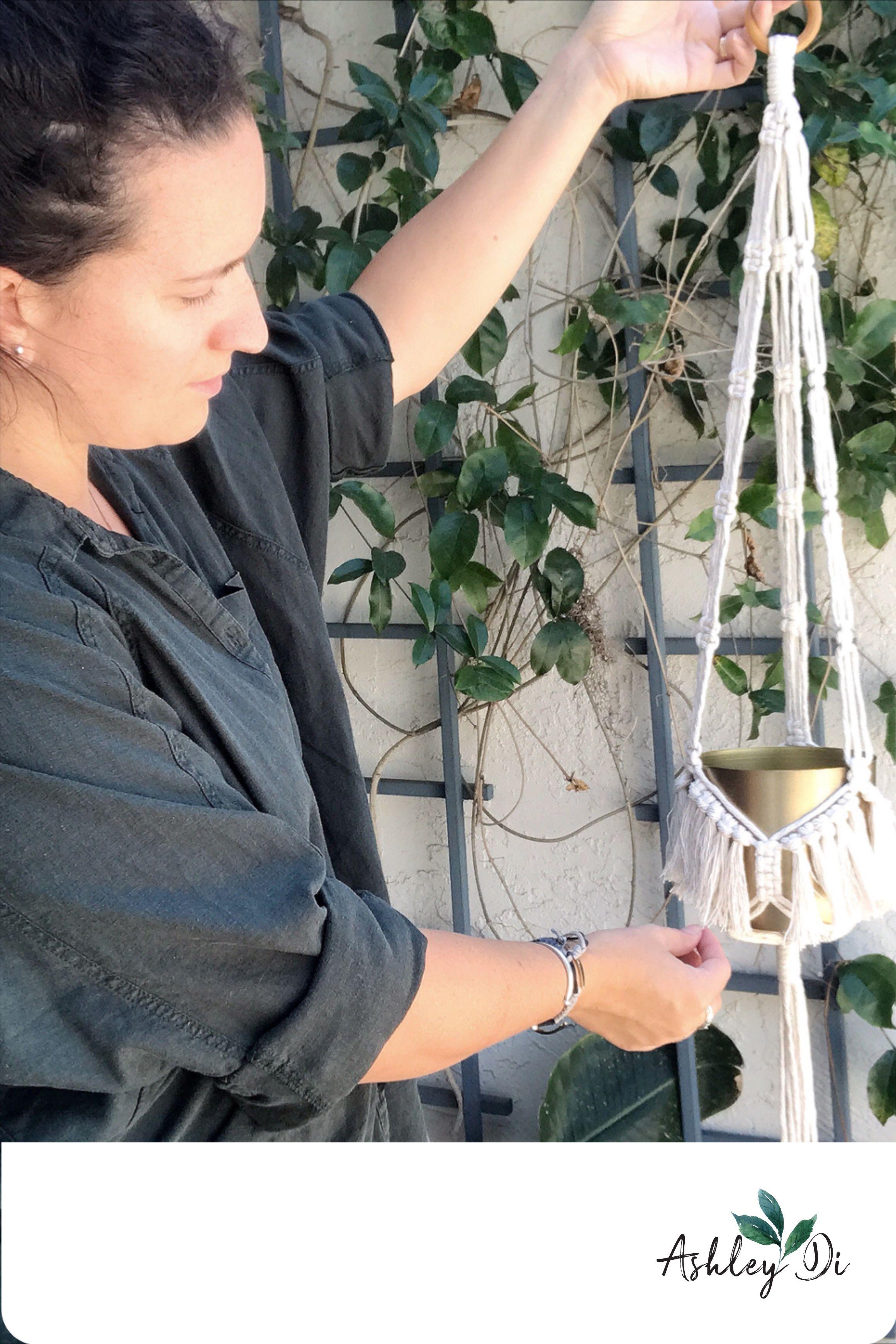 Diy macrame plant hanger tutorial downloadable pdf