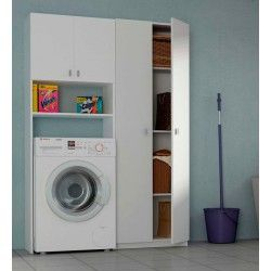 Mueble lavadora 2p 1800x64x36 armarios multiusos pinterest - Armarios para lavadoras ...