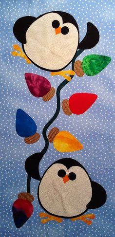 Quilter Beth's Blog: Penguin BOM and New Quilt wonder if these could be used in a baby quilt