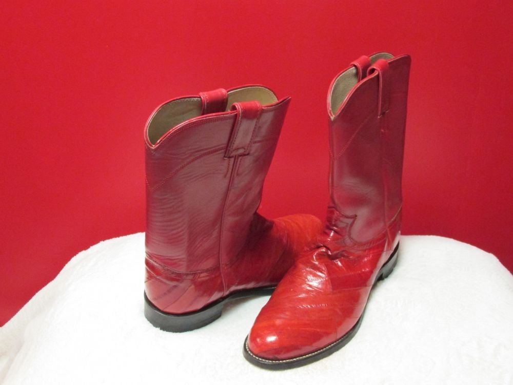 0f4f4080fea5 Unique Justin Red Eel Skin boots size 9-D in great condition  fashion   clothing  shoes  accessories  mensshoes  boots  ad (ebay link)