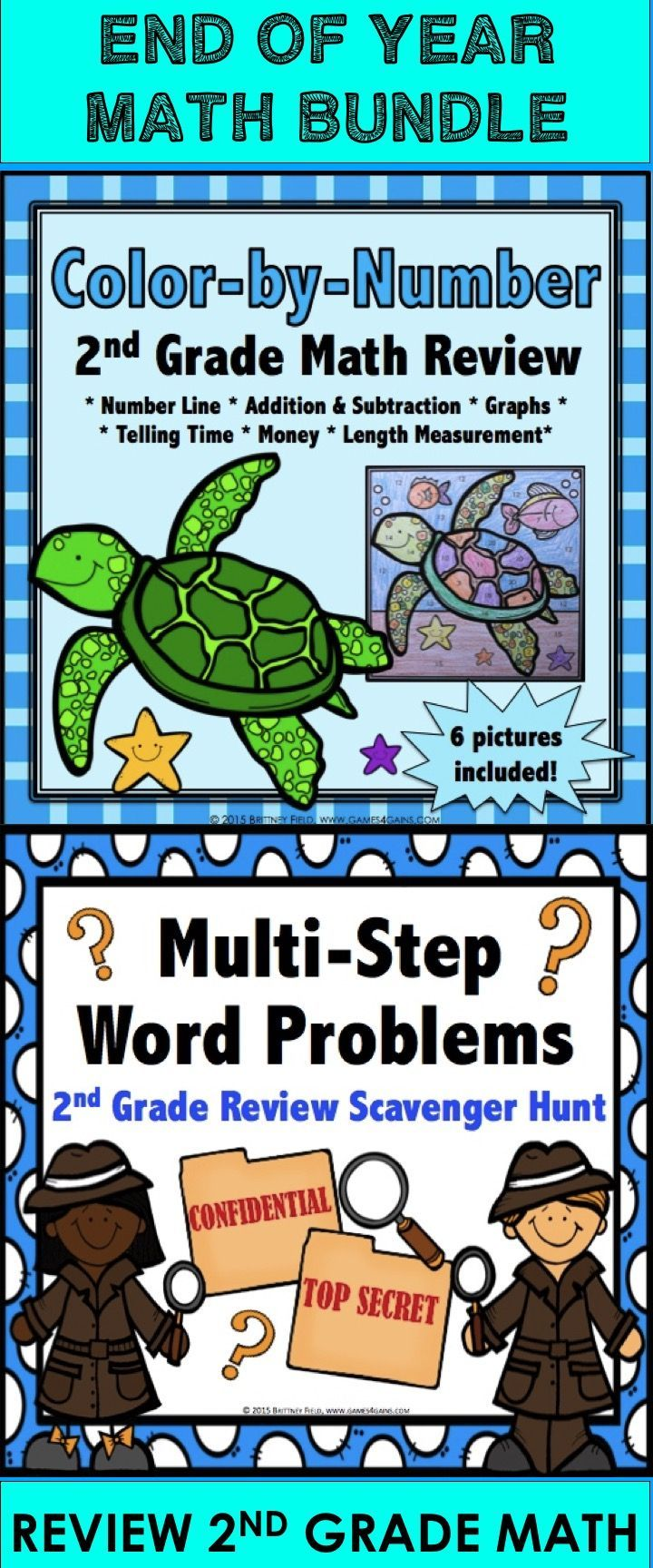 2nd Grade End of Year Activities: End of Year Math Review Bundle ...
