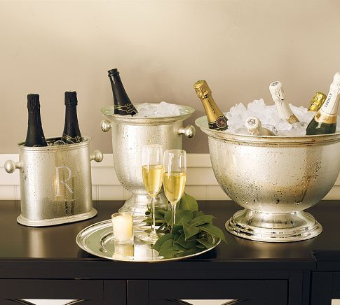 Hotel Silver Plated Champagne Bucket Pottery Barn Champagne Buckets Silver Plate Silver Bowl