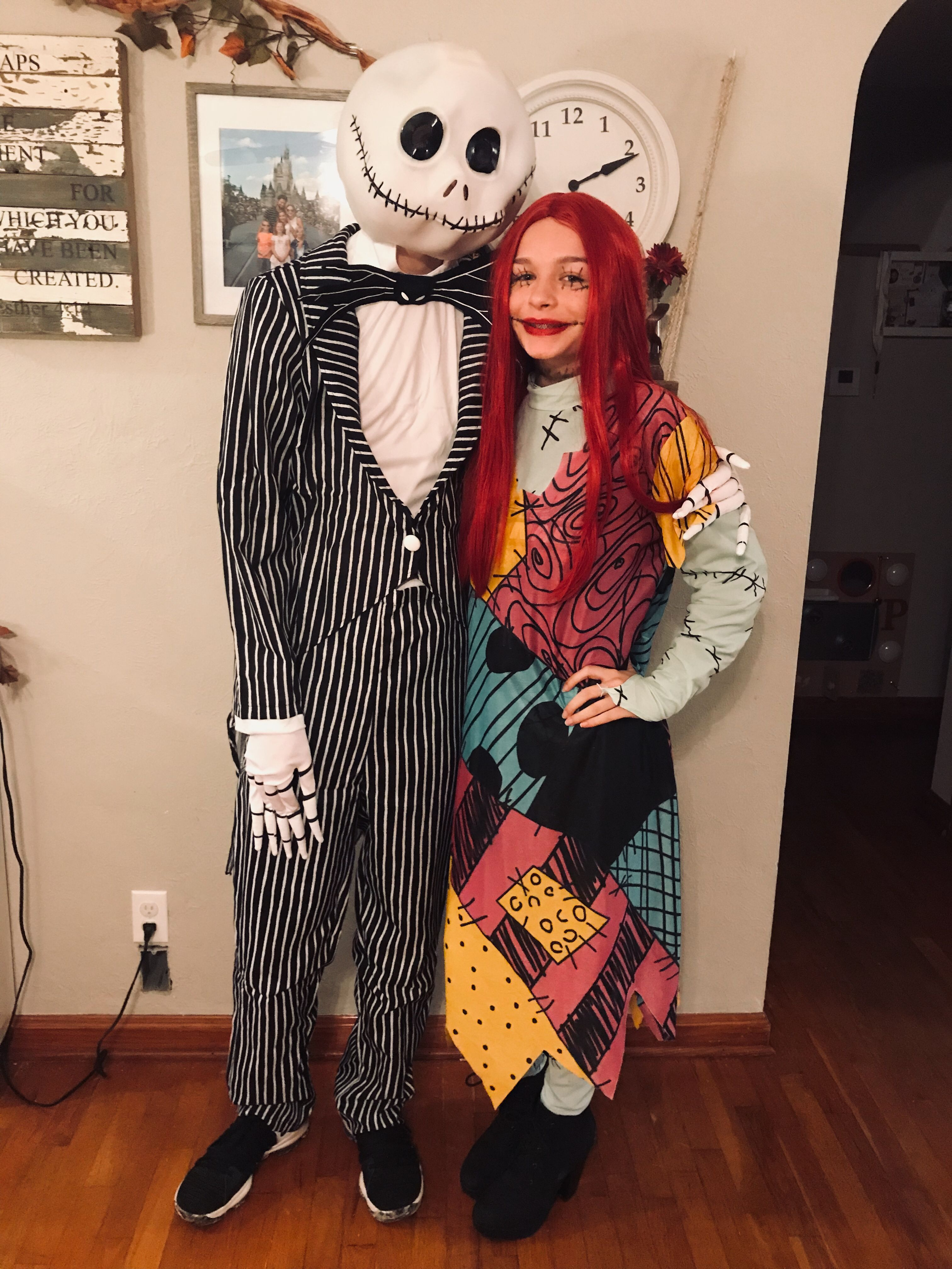 jack and sally nightmare before christmas couples costume #halloween