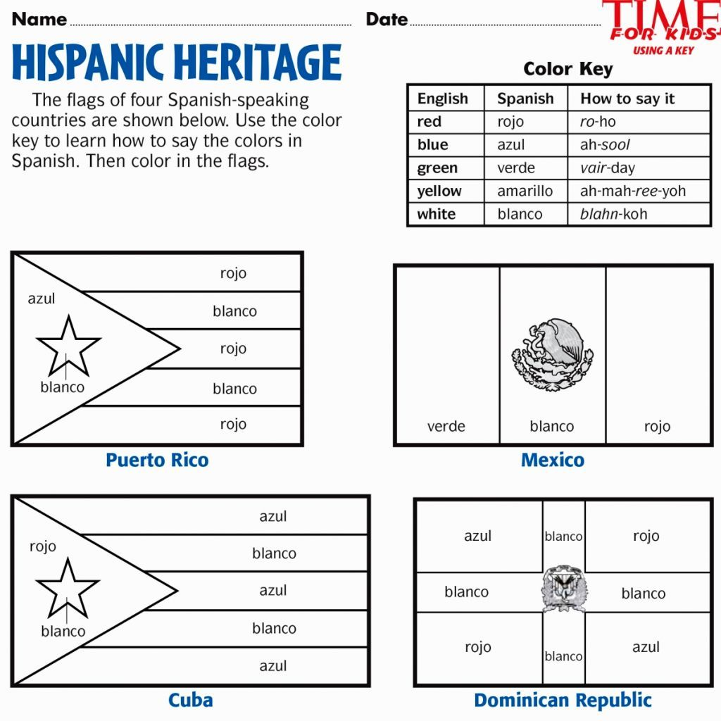 Hispanic Heritage Coloring Pages