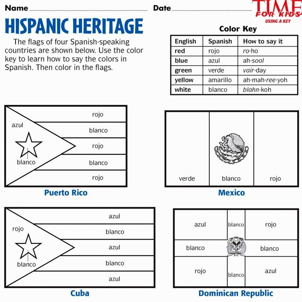 hispanic heritage coloring pages  hispanic heritage