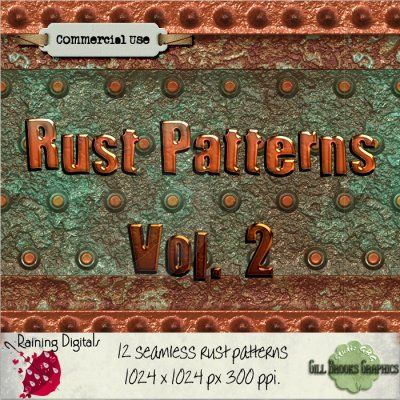 Seamless Rust Vol 2 Seamless Rust patterns [gbg.smls.rust2] - $3.00 : Raining Digitals, A Source for all things digital