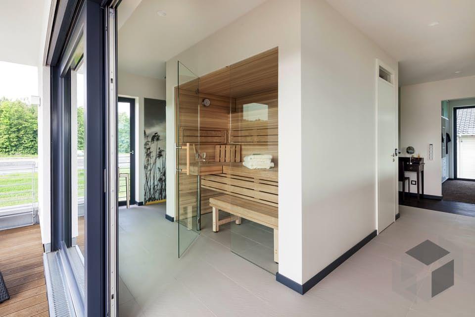 Eingebaute Sauna Einrichtung Interior Wohnideen