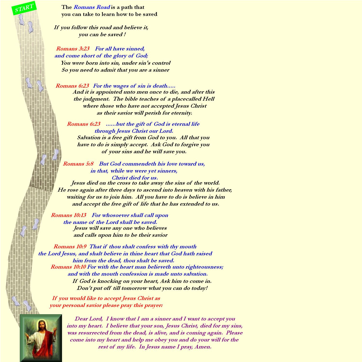Romans Road To Salvation Printable Quotes