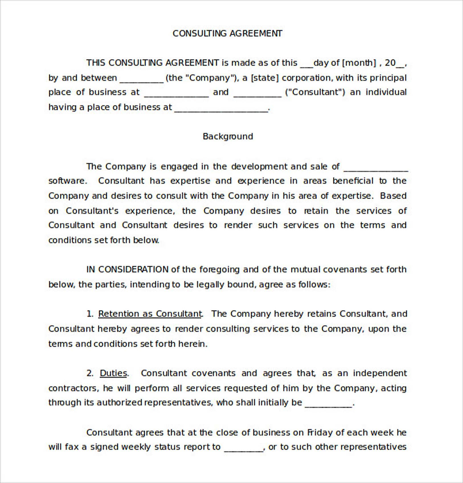Whereas the employer desires to retain the services of the employee,. Free Consulting Agreement Template 9 Consulting Agreement Template Understanding About Consulting Contract Template Consulting Business Tutoring Business