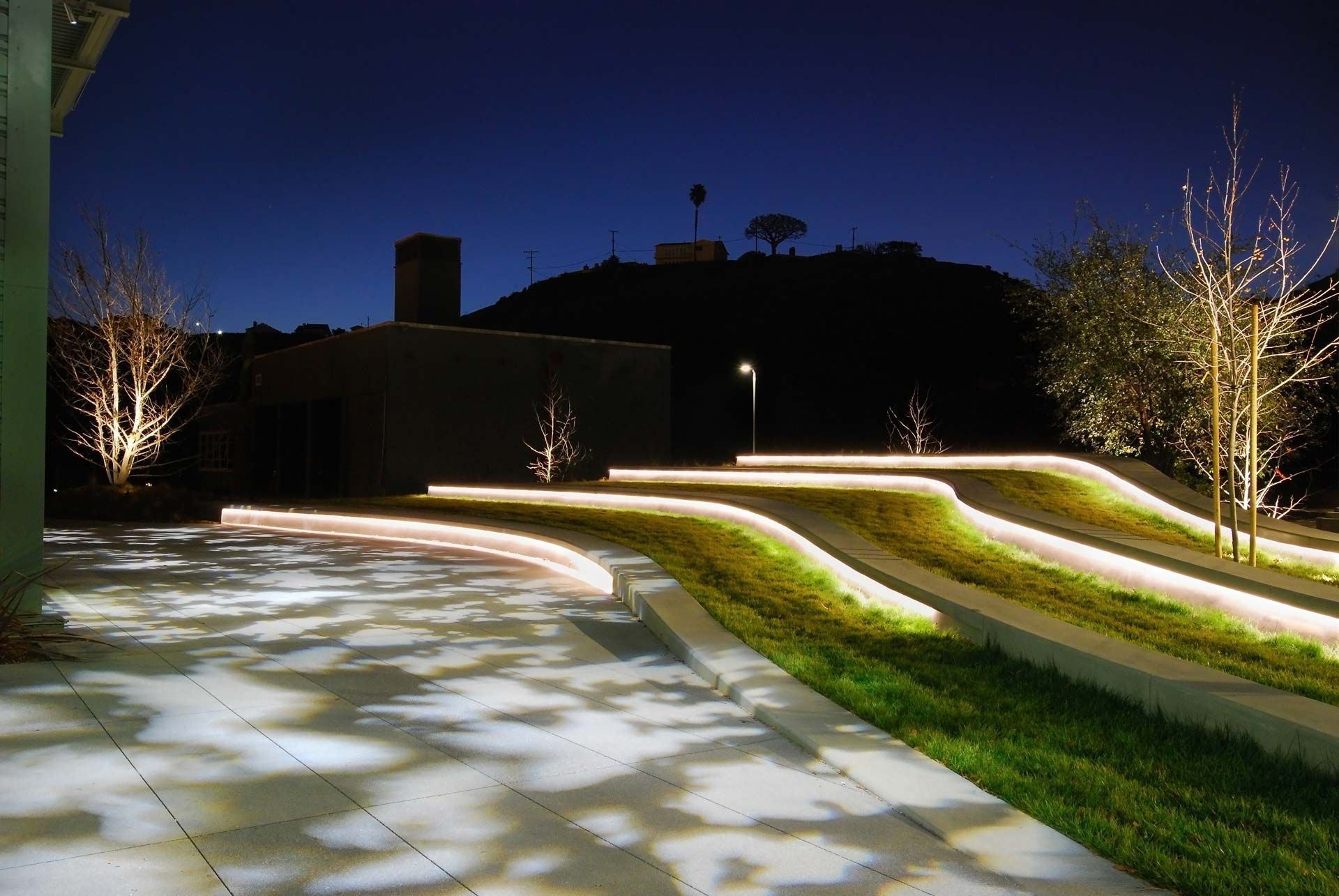 Designing A Moonlit Theater For Youtube Oculus Light Studio Landscape Lighting Design Landscape Lighting Landscape Design