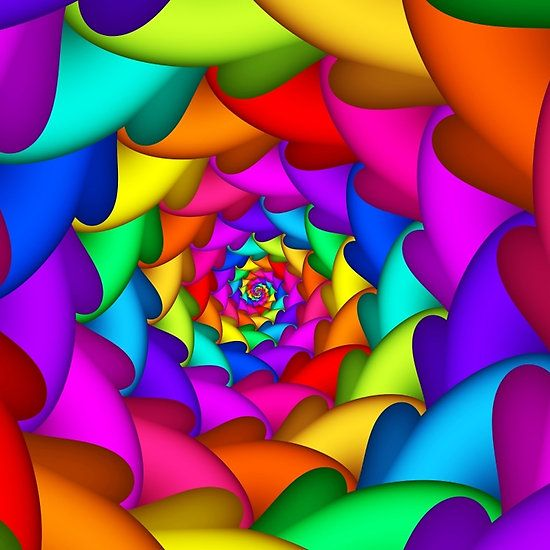 Psychedelic Rainbow Spiral By Kitty Bitty Rainbow Colors Art Rainbow Art Colourful Wallpaper Iphone