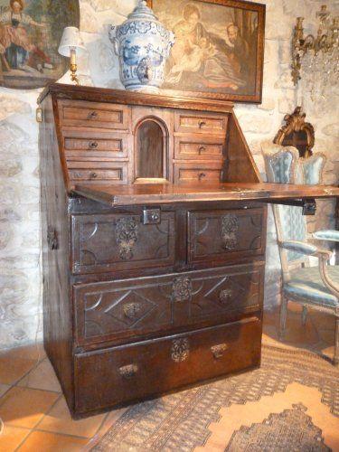 2- Bureau de pente de Galion époque Louis XIII - Mobilier Style