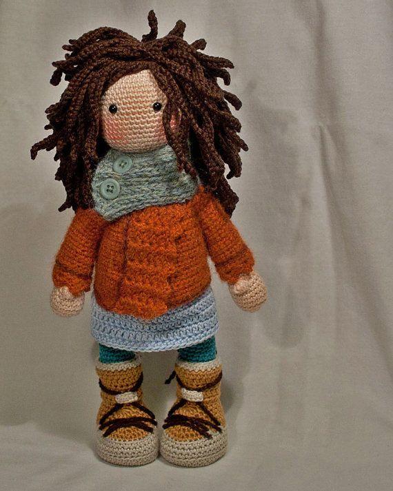 Crochet pattern for doll MONJA (Deutsch, English, Français, Español ...
