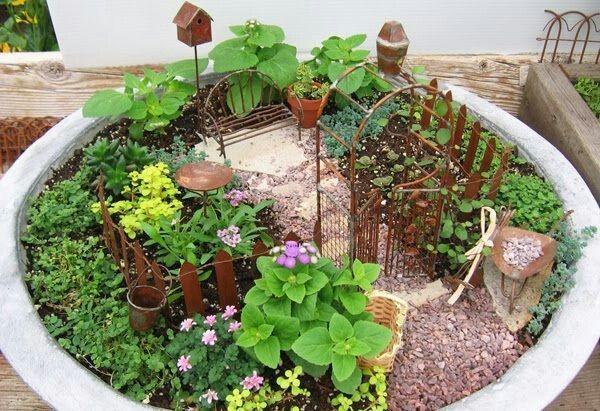 Mini jardin jardines Pinterest