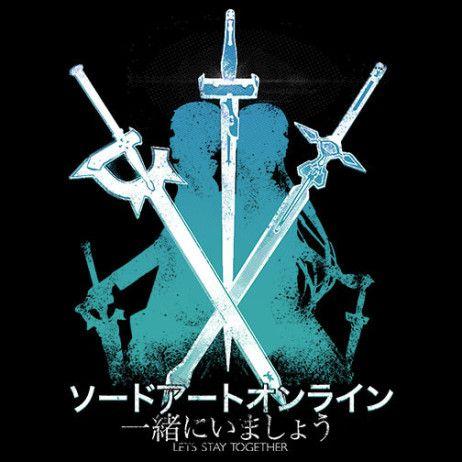 Sword Art Online: #Kirito and #Asuna silhouette t-shirt. #sao