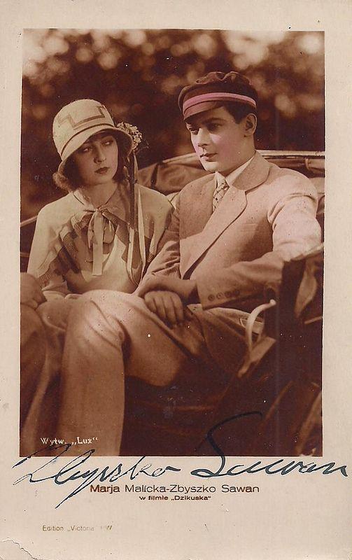 Marja Malicka and Zbyszko Sawan in Dzikuska (1928)
