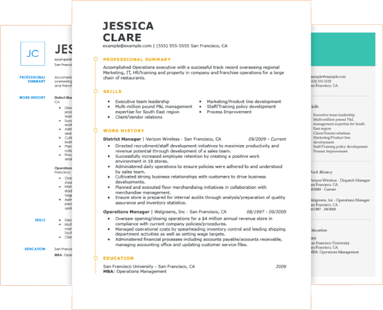 FreetoUse Online Resume Builder by in 2020 Job