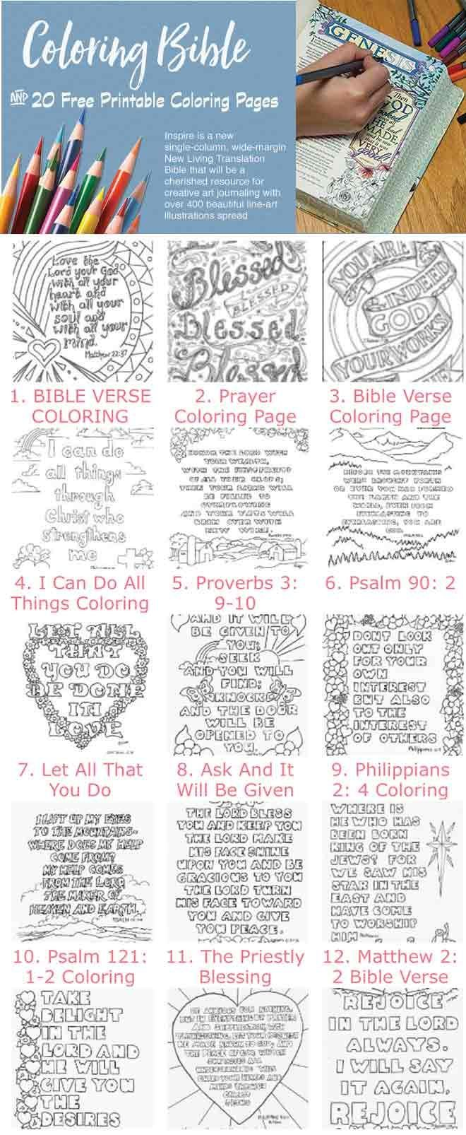20 Free Bible Coloring Pages And A Peek Into The NEW Cooling Book Biblejournaling