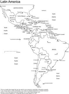 map of spanish speaking countries and capitals coloring - Google ...
