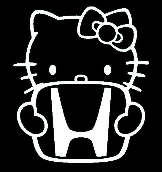 Hello Kitty Honda Sticker Decal Vinyl For Computer By SenPro - Hello kitty custom vinyl decals for car