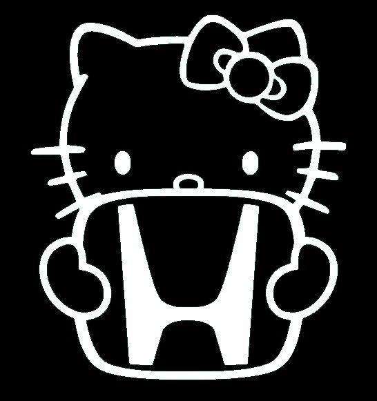 Hello Kitty Honda Sticker Decal Vinyl For Computer By SenPro - Hello kitty custom vinyl stickers