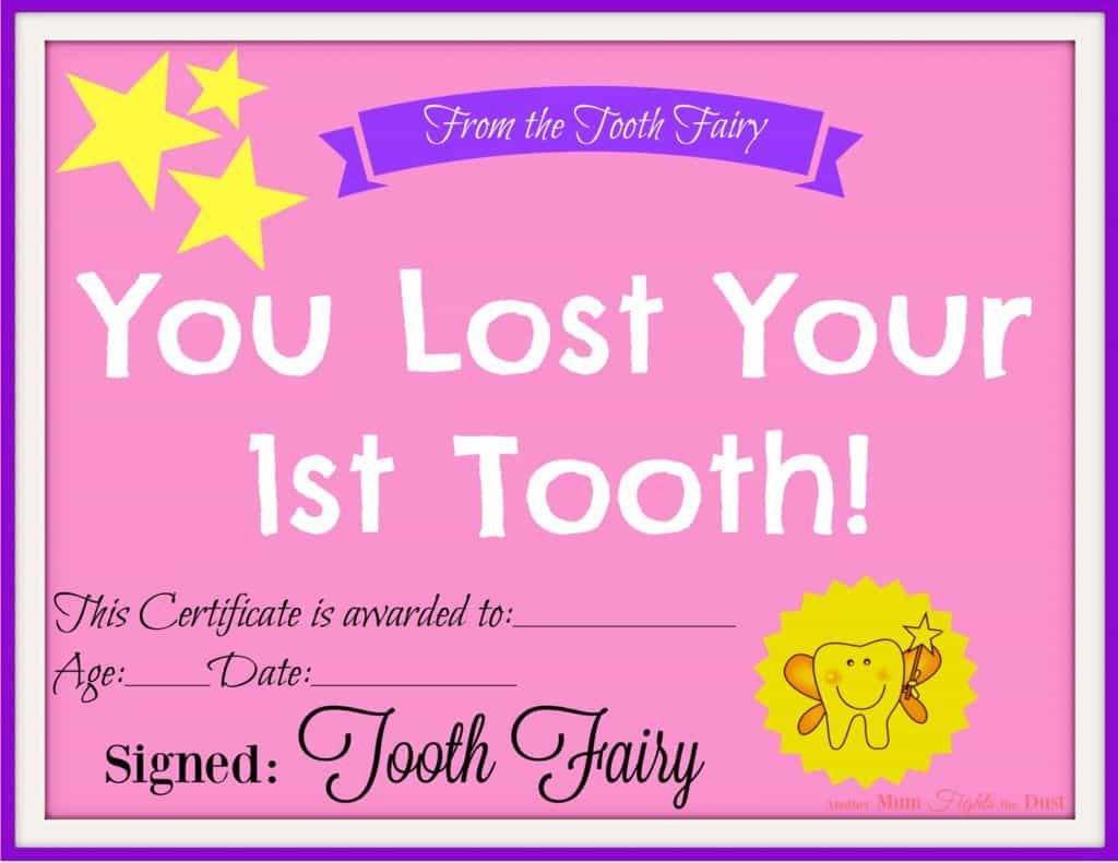 Free Printable Tooth Fairy Certificate Another Mum Fights The Dust Tooth Fairy Certificate Tooth Fairy Tooth Fairy Letter