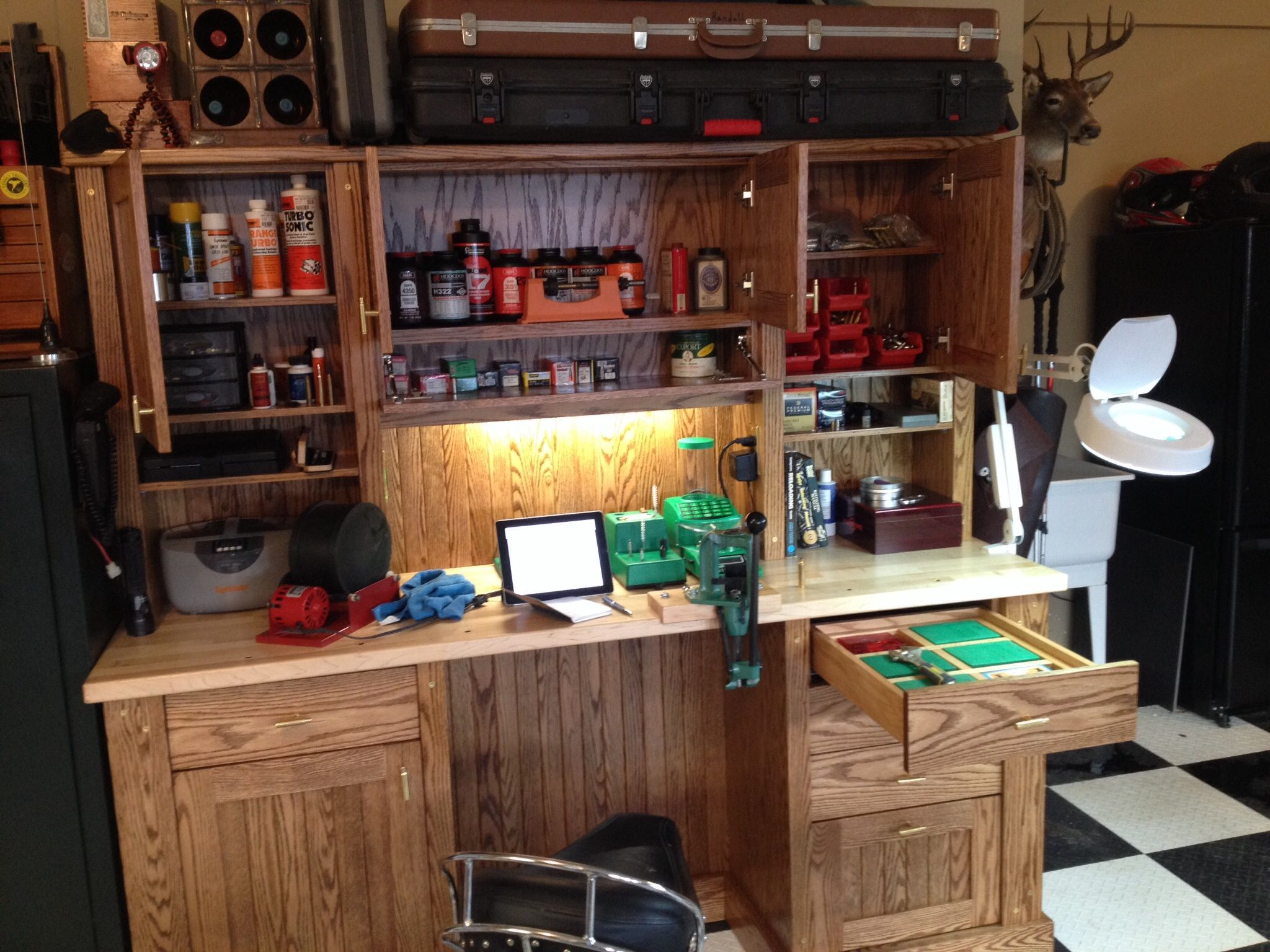Man Cave Jaco : My loaded reloading bench hunting ideas pinterest
