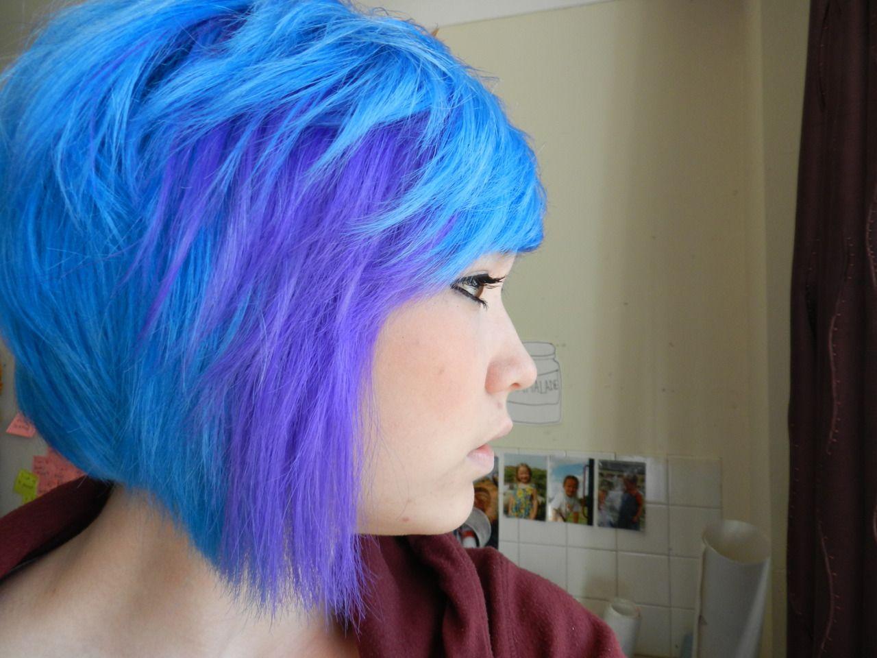 Crazy Colour Sky Blue Rusk Purple Burst Ankl3snapp3rtumblr