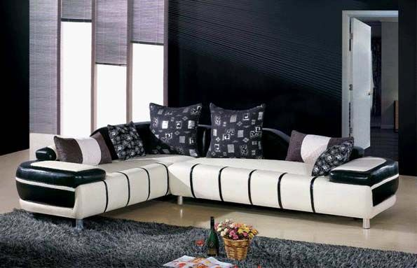 Best Black And White Sofa Set Designs For Modern Living Room 400 x 300