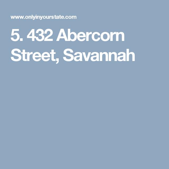 5. 432 Abercorn Street, Savannah