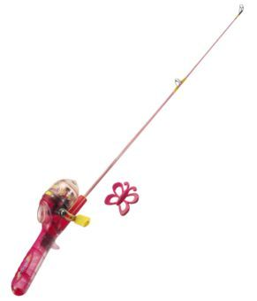 Shakespeare barbie lighted fishing rod and reel kit for for Bass pro fishing poles