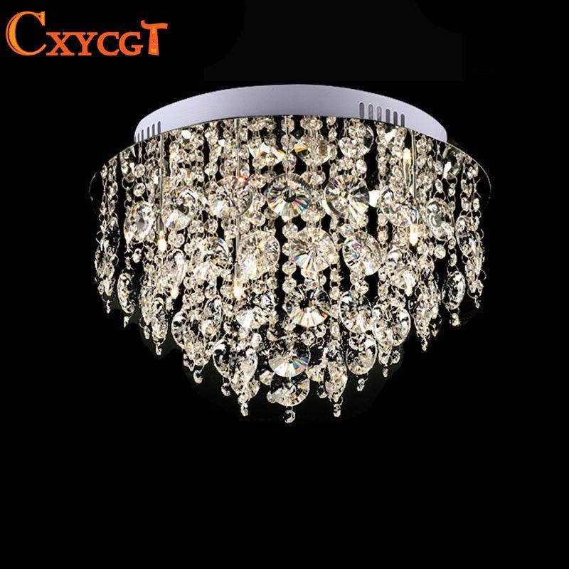Pas cher Circulaire Vanité Lustre Led k9 Cristal Lustre Luminaire - lustre pour salle a manger
