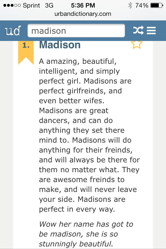 greek meaning madison