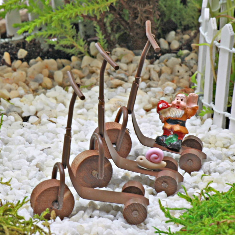 Details About Scooter ~ Vintage Miniature ~ Fairy Garden ~ Dolls House ~  Handmade By Jennifer