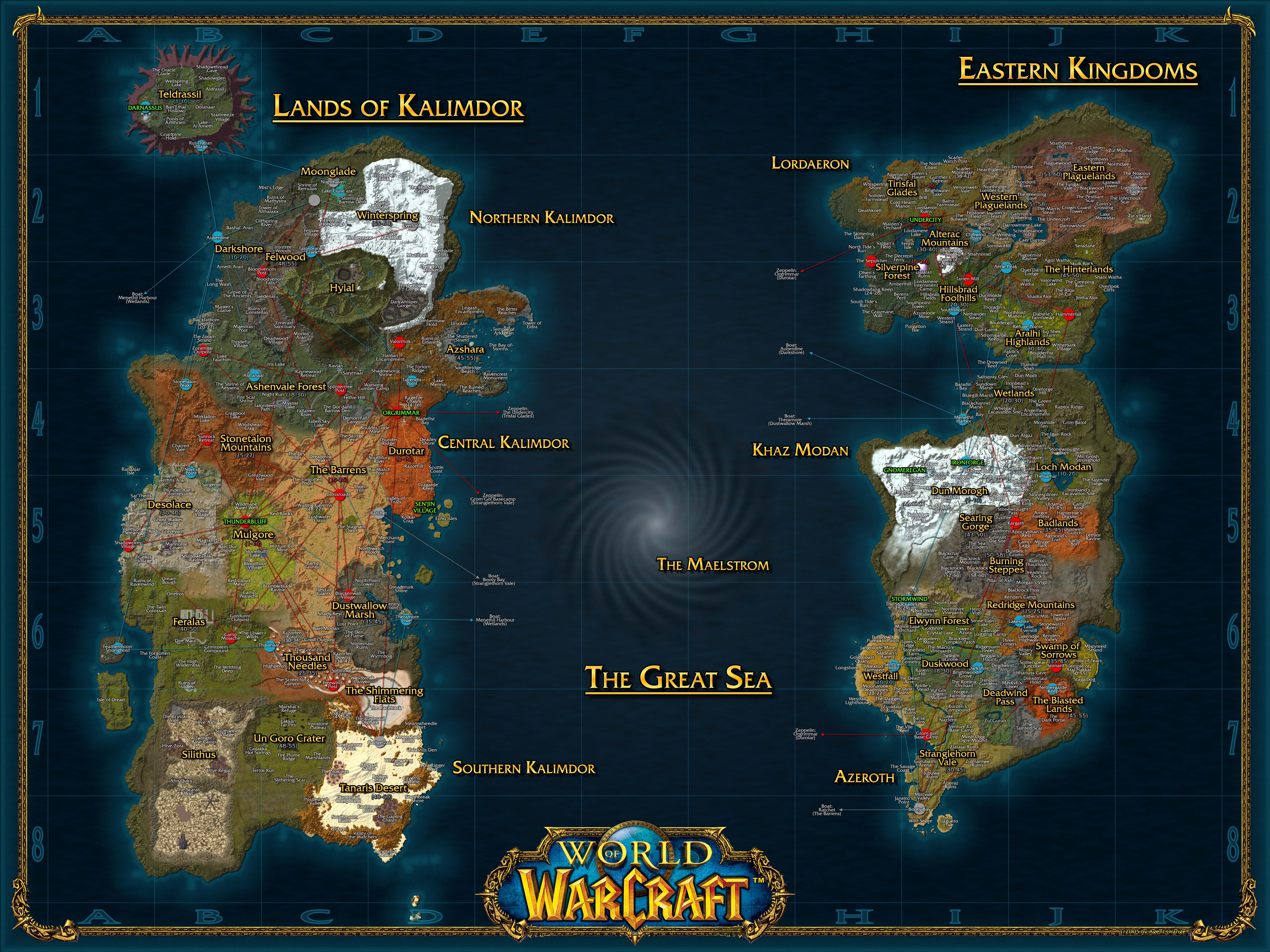 HD Map Of The Azeroth Pre-sundering. #worldofwarcraft