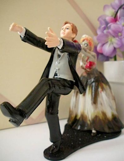 Zombie Bride Cake Topper For Wedding