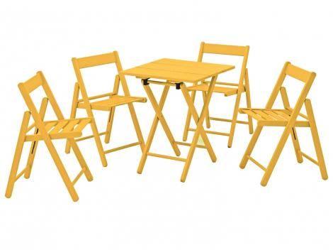 Conjunto de Mesa com 4 Cadeiras Aconchego Tramontina - Mesas e cadeiras para área externa - Magazine Luiza