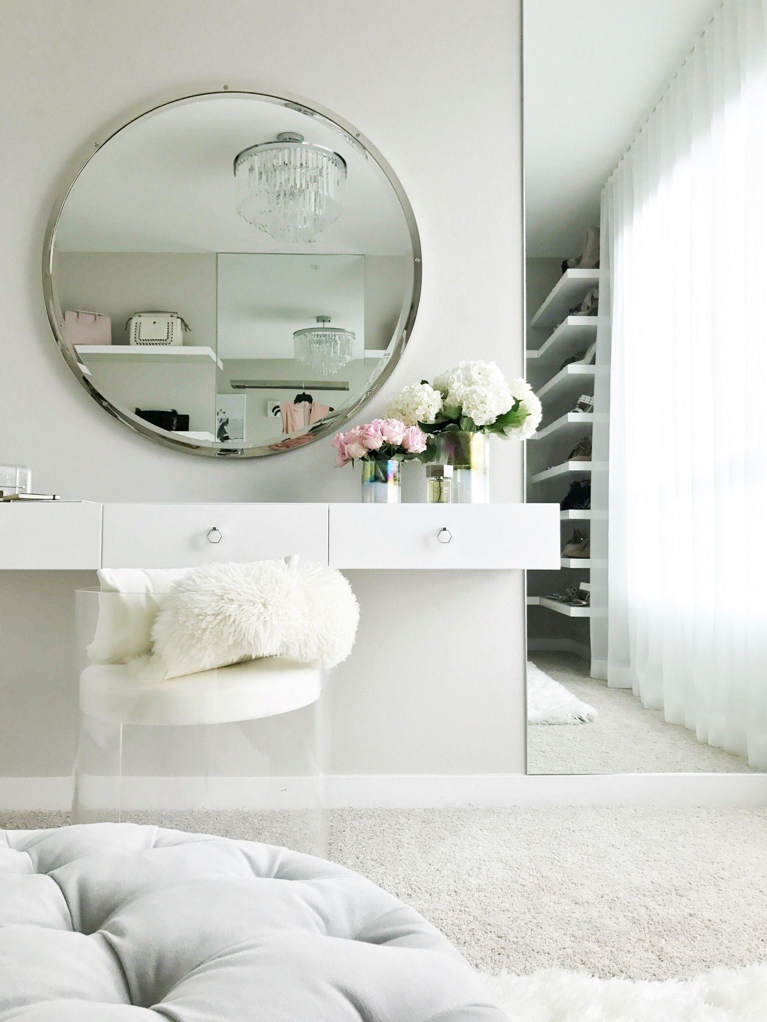 Custom floating vanity - LA Closet Design X Jessi Malay on CLOSETPHILE.com