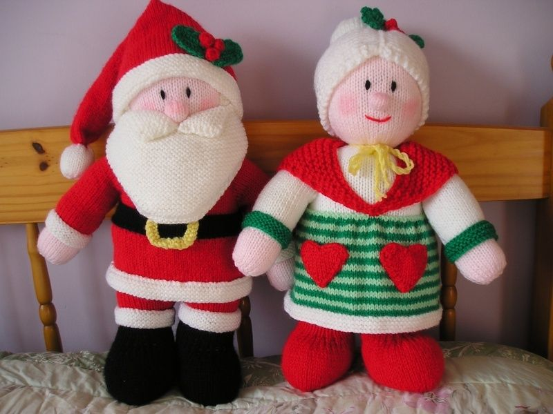 Santa And Mrs Claus Jean Greenhowe Crochet Baby Clothes