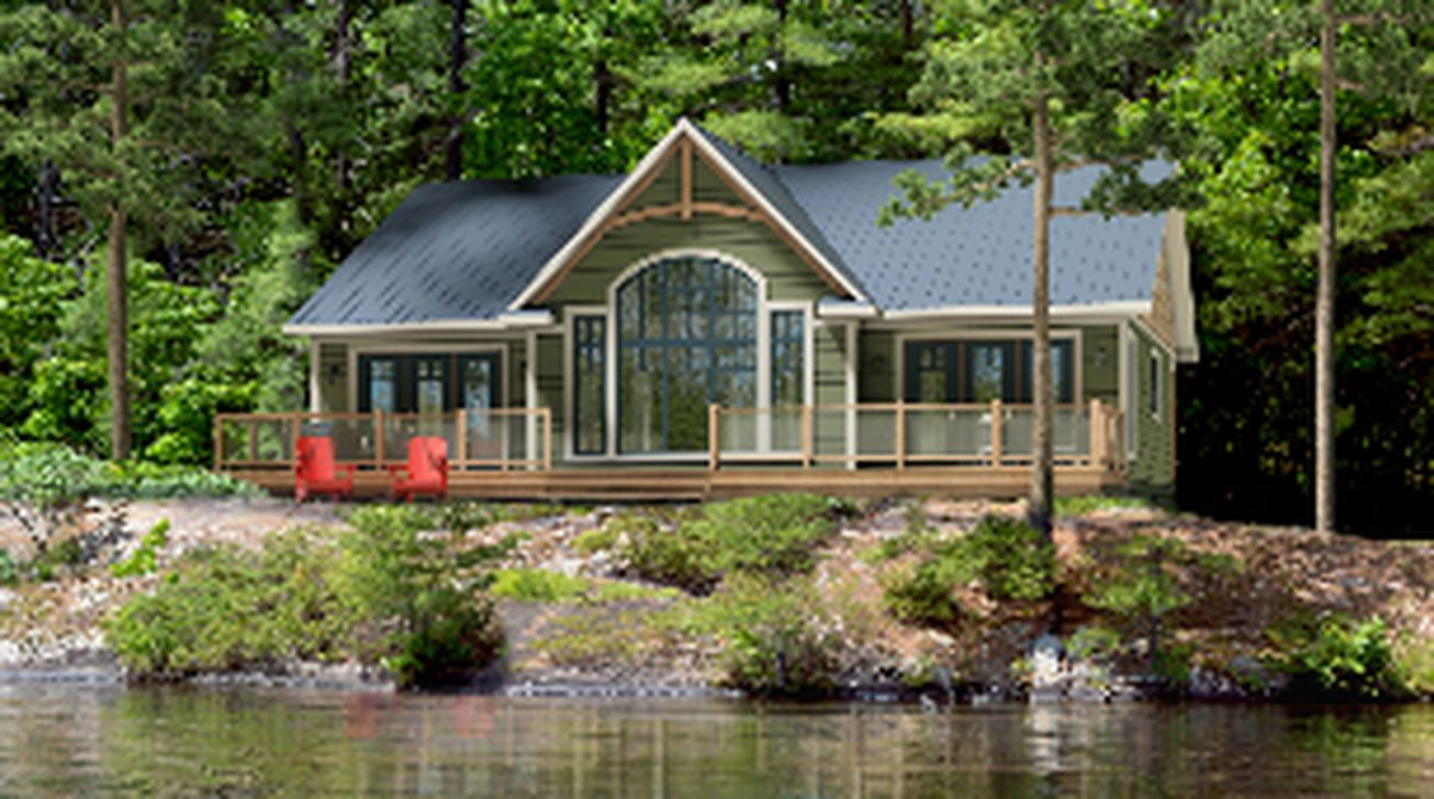 Cool 36 Marvelous Cottage Design. More at https://homishome.com/2019 /03/14/36-marvelous-cottage-design/ | Beaver homes and cottages, Lake house  plans, Cottage plan