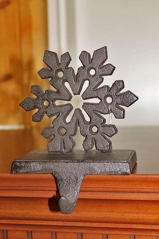 Bronze Metal Cast Snowflake Stocking Holder   Christmas ...