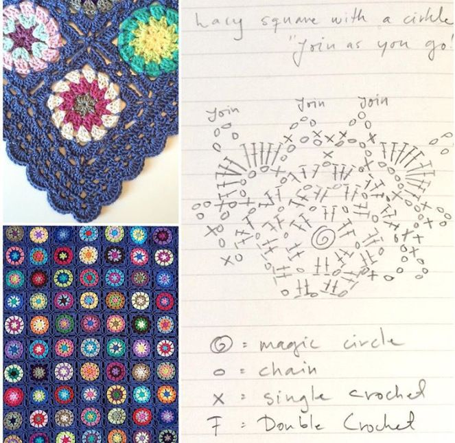 Circle in a lacy square | Mandalas
