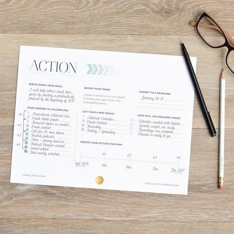 Make Your Own Action Plan For Your Goal Setting Use This Free